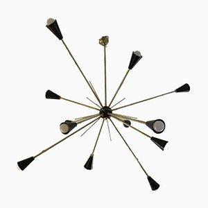 Sputnik Deckenlampe von Stilnovo, 1950er