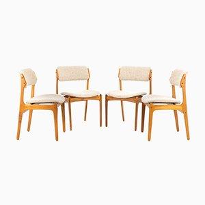 Chaises de Salon Modèle 49 par Erik Buch pour Oddense Maskinsnedkeri / OD Møbler, 1960s, Set de 4