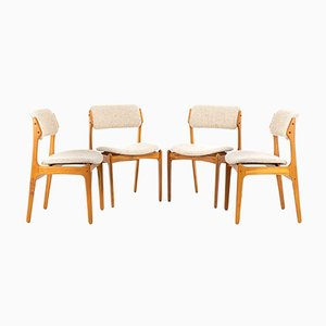 Model 49 Dining Chairs by Erik Buch for Oddense Maskinsnedkeri / O.D. Møbler, 1960s, Set of 4