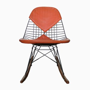 Model RKR-2 Bikini Cover Rocking Chair by Charles & Ray Eames for Herman Miller, 1950s