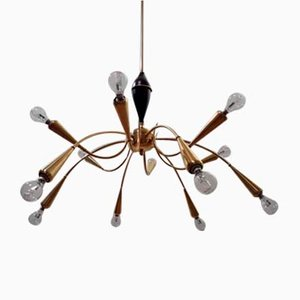 Mid-Century Spider Chandelier from Stilnovo