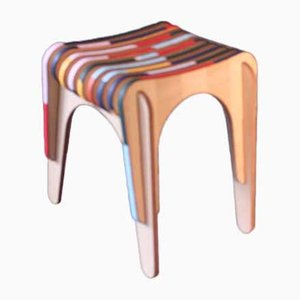 In Leather We Trust Stool by Markus Friedrich Staab for Praunheimer Werkstätten, 2019
