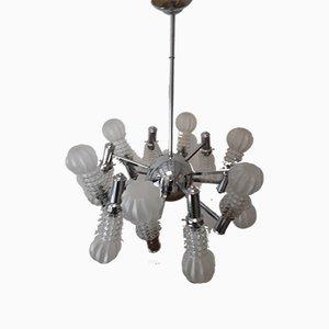 Vintage 12-Arm Sputnik Chandelier