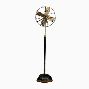 Cast Iron and Brass Standing Fan from Marelli, 1940s