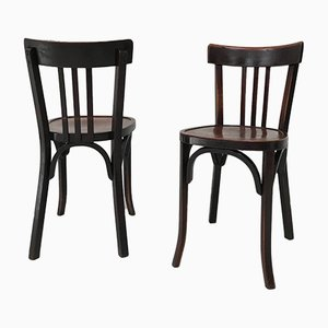Mid-Century Bistro Chairs from Baumann, 1950s, Set of 2