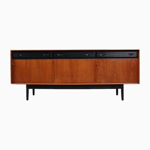 British Teak and Black Sideboard from Dalescraft, 1960s