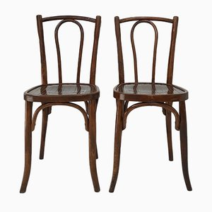 Antique Bistro Chairs from Thonet, 1900s, Set of 2