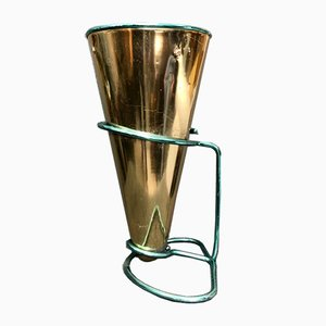 Italian Anodized Aluminum Vase or Umbrella Stand by Ettore Sottsass for Rinnovel, 1950s