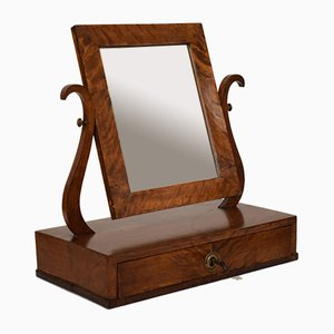 19th Century Biedermeier German Birch Toilet Mirror with Drawer, 1820s