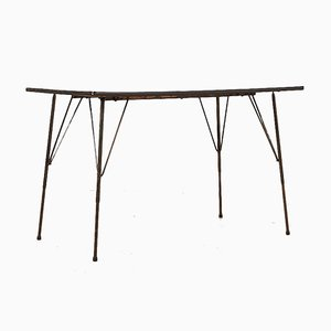 Mid-Century Black Dining Club Table by Rudolf Wolf for Elsrijk