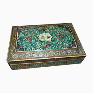Vintage Lacquered Wooden Box