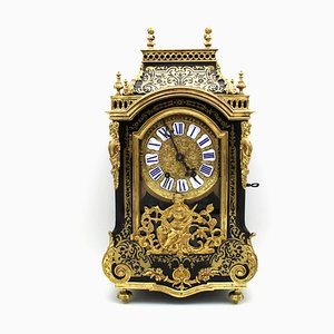 Antike Boulle Uhr aus Karton, 1850er