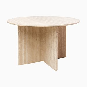 Postmodern Travertine Dining Table, 1970s