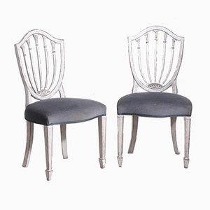 Vintage Gustavian Style Dining Chairs, Set of 10