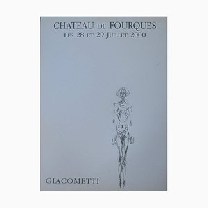 Giacometti Lithograph Exhibition Poster, 2000s