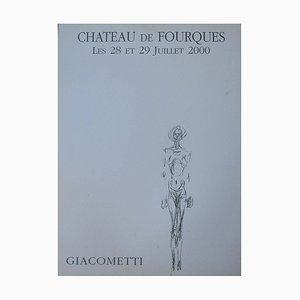 Giacometti Lithographie Ausstellungsplakat, 2000er