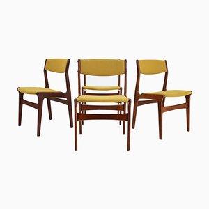 Dänische Teak Esszimmerstühle von Nova Mobler, 1960er, 4er Set