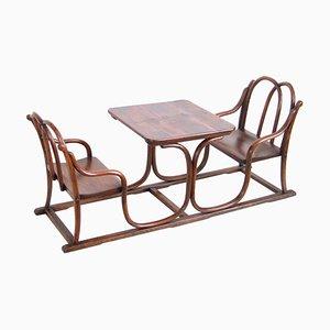 Double Banc, Chaise & Table pour Enfant de Thonet, 1885