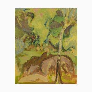 Dipinto ad olio vintage di Hans Øllgaard