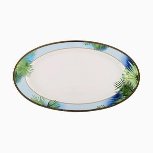 Large Model Jungle Serving Dish with Gold Decoration by Gianni Versace for Rosenthal