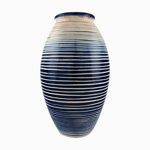 Striped Glazed Stoneware Vase from Kähler, HAK, 1940s