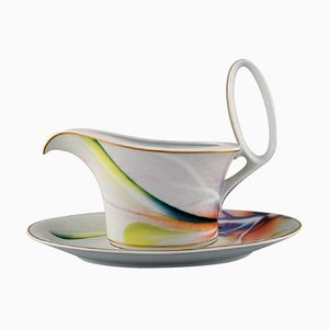 Paul Wunderlich for Rosenthal Large Mythos Sauce Boat with Saucer, 1980s, Set of 2