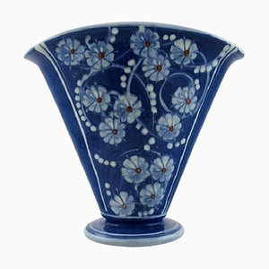 Glazed Stoneware Vase in Modern Design from Kähler, Denmark, 1930s