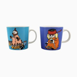 Arabia Finland Cups in Porcelain with Motifs from Moomin, Set of 2