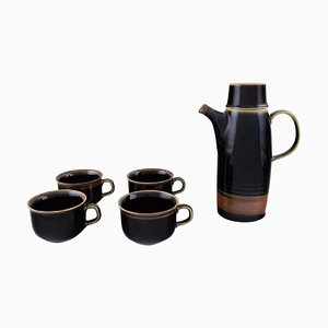 Carl-Harry Stålhane for Rörstrand Viking Coffee Pot and Cups, 1960s, Set of 5