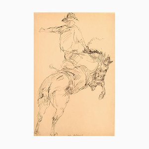 Tusch Drawing Cowboy on Horse by Sally McClymont, Australia