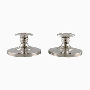 Swedish Silversmith Candleholders in Silver, 1930s, Set of 2