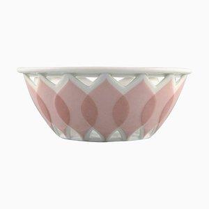 Bjørn Wiinblad for Rosenthal Lotus Porcelain Service Pierced Bowl, 1980s