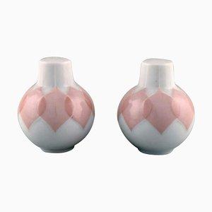 Bjørn Wiinblad for Rosenthal Lotus Porcelain Service Salt & Pepper Set, 1980s, Set of 2