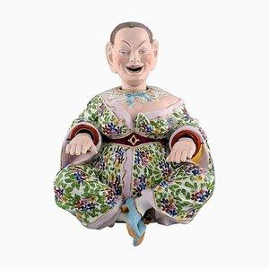 Große antike Meissen Pogade aus handbemaltem Porzellan