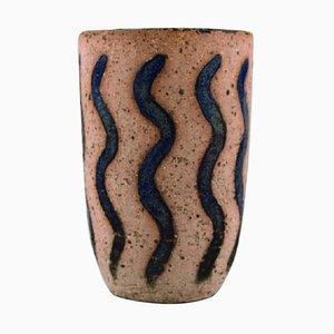Vase in Chamotte by Christian Poulsen, Denmark, 1940s
