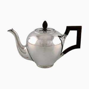 Silver Teapot with Handle and Wooden Knob from Bonebakker & Zoon, Amsterdam