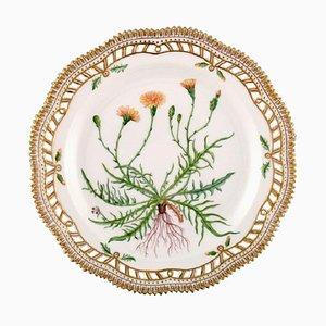 Royal Copenhagen Flora Danica Round Dish or Dinner Plate with Pierced Border, 1960s
