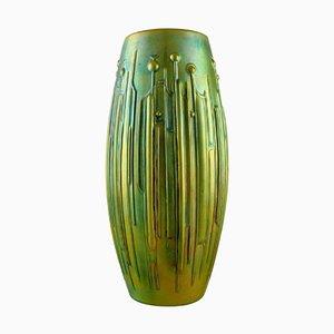 Große Moderne Vase aus Glasierter Keramik von Török János für Zsolnay, 1950er
