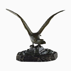 Large Antique Danish Eagle Sculpture by Peder Marius Jensen