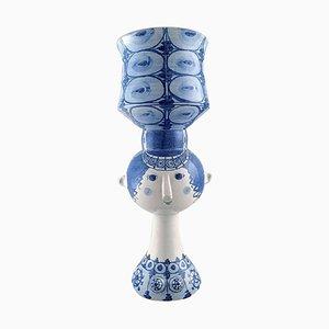 Bjørn Wiinblad Large Glazed Ceramic Vase in the Shape of a Woman, 1974