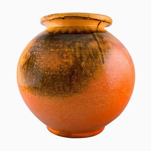 Large Round Vase in Glazed Stoneware by Svend Hammershøi for Kähler, Denmark, 1930s