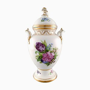 Antique Baluster Shaped Porcelain Lidded Vase from Royal Copenhagen