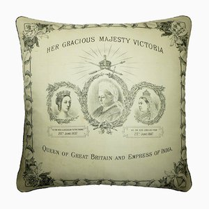 Antique Fabric Her Gracious Majesty Victoria Cushion