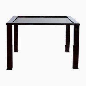 Coffee Table in Polished Chrome & Grey Smoked Glass by Milo Baughman, 1970s