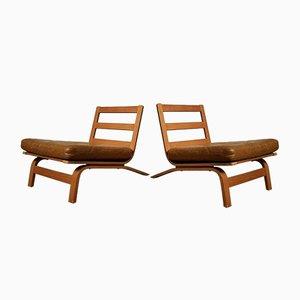 Mid-Century Danish Low Lounge Chairs, Set of 2