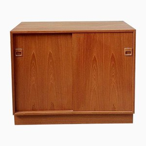 Mid-Century Danish Media Cabinet with Shelving from Horsens Hjornebo