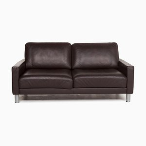 Dark Brown Leather 2-Seat Sofa from Rolf Benz