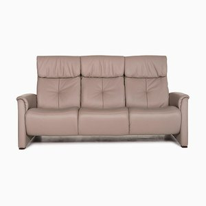 Cumuly Grey and Beige Leather 3-Seat Sofa from Himolla