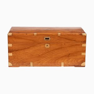 19th Century Camphorwood Military Campaign Trunk, 1850s