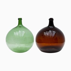 Antique Wine Bottles, Set of 2